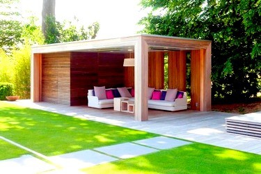 Pool house en bois SOFIA 4 en version 5 m - 6 m - 7 m - 8 m x 2.50 m - 3 m - 4 m