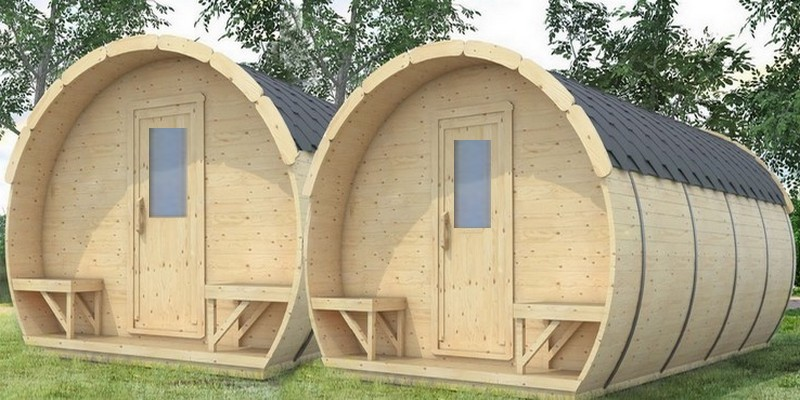 The Space Wood Prefabricated Barrel Shaped Structures May Be Your Choice.  They Are Available In Variety Of Sizes And Colors, With Deck Or Benches.